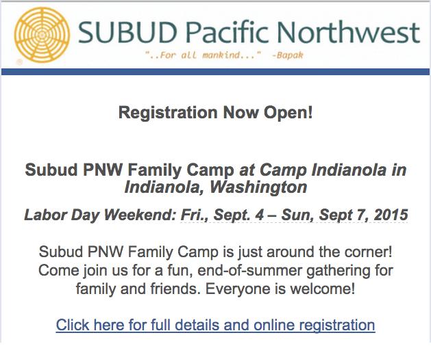 Subud Family Camp 2015